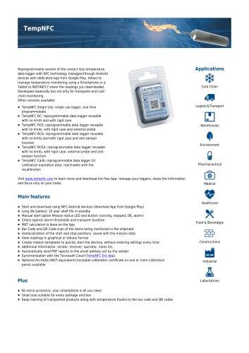 TempNFC reusable data sheet