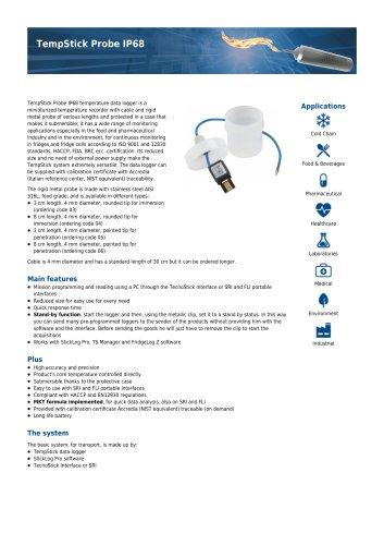 TempStick probe IP68 data sheet