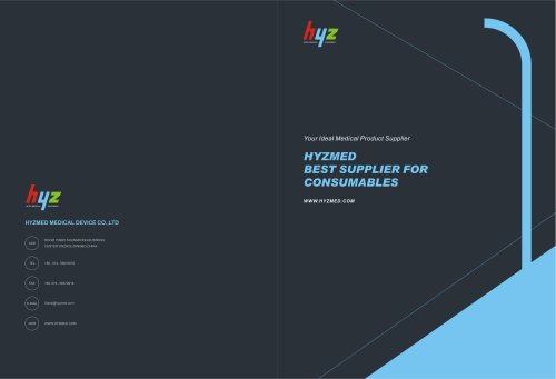 Brochure for consumables--Hyzmed