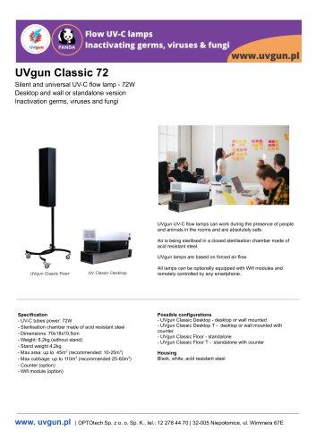 UVgun Classic UV-C germicidal flow lamps