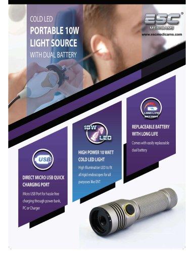 ESC Medicams Portable Cold LED Light Source 10 Watt