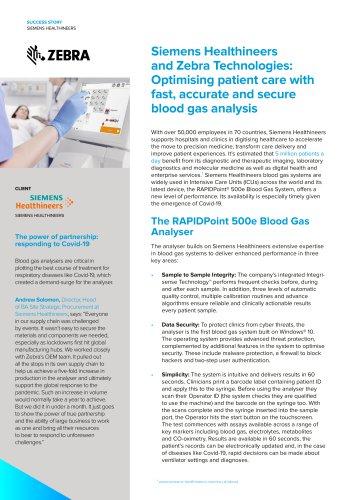 Zebra OEM Siemens Case Study
