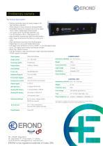 EROND Endoscopy Camera Technical Sheet