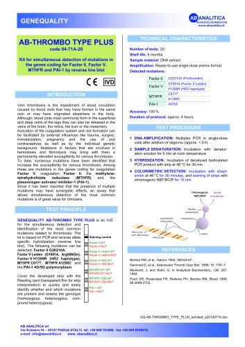 AB-THROMBO TYPE PLUS code 04-71A-20
