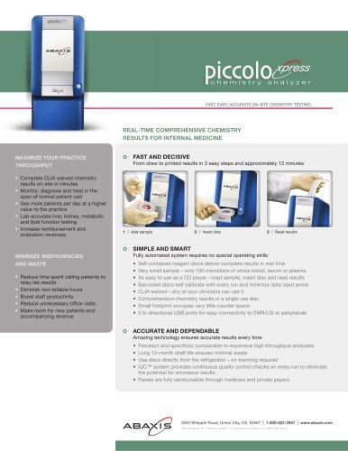 Piccolo Xpress Internal Medicine flyer