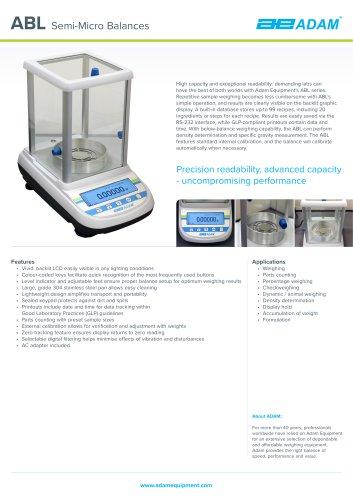 ABL Semi-Micro Balances