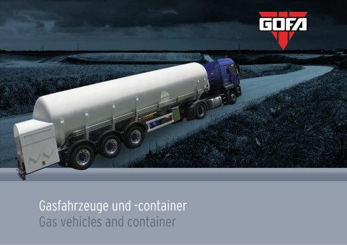 Gas vehicles and container