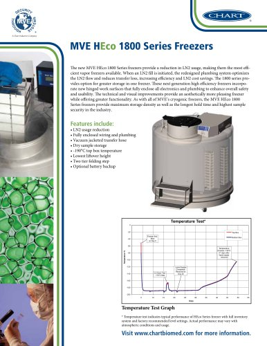 MVE HEco 1800 Series Freezers