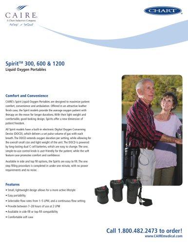 Spirit™ 300, 600 & 1200 Liquid Oxygen Portables