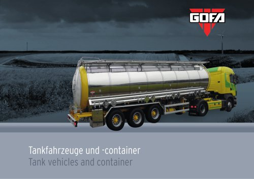 Tank vehicles and container