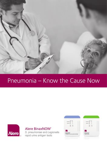 Alere BinaxNOW S. pneumoniae and Legionella brochure