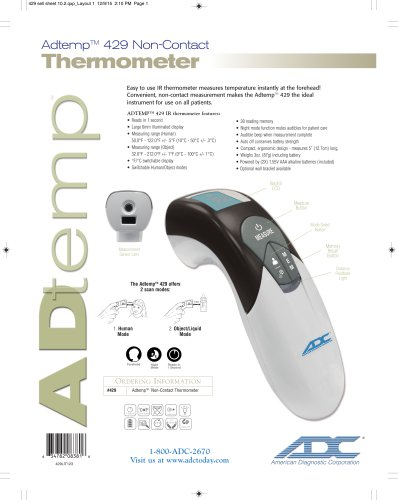 Adtemp Non-Contact Thermometer