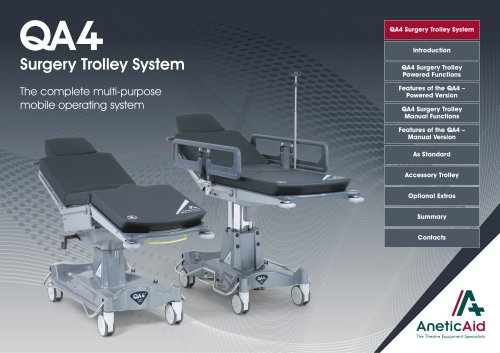 QA4 Day Surgery Trolley System