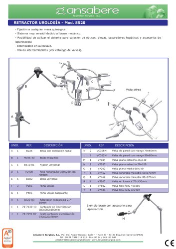 Urology Retractor - Mod.8520
