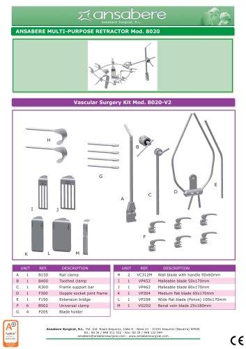 Vascular Surgery Kit Mod.8020-V2