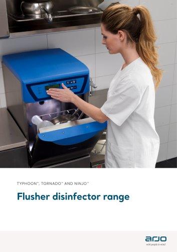 Flusher disinfector range