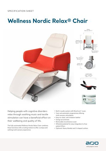 Wellness Nordic Relax Chair Brochure Specs Sheet