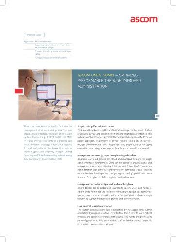 Ascom Unite Admin