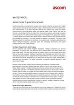 WHITE PAPER Ascom Unite: A great mind at work