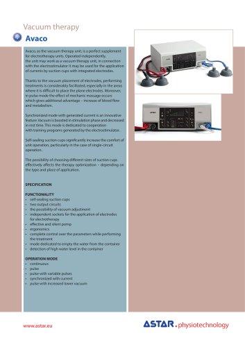 Avaco - vacuum therapy unit
