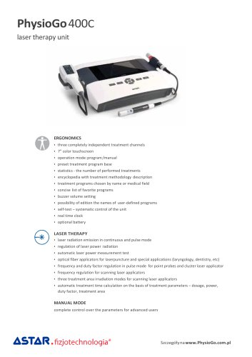 PhysioGo 400C low level laser therapy unit