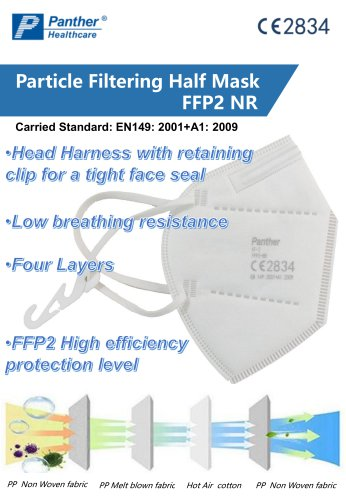 FFP2 Cup shaped Safety Mask KFR-2 Particulate Respirator Catalogue