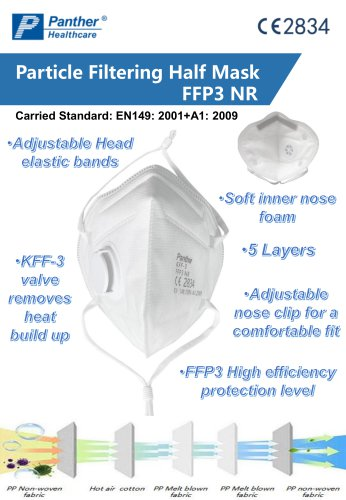 FFP3 folding Safety mask  KFF-3 particulate respirator Catalogue