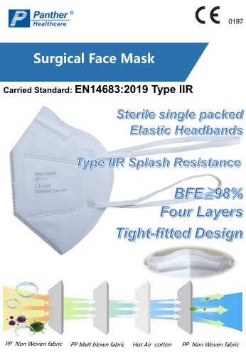 Surgical Respirator Type IIR KFC-3 Catalogue