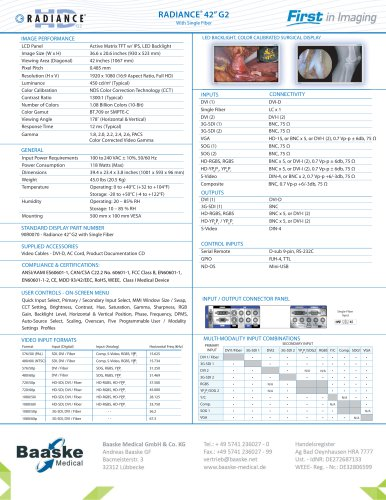 """NDS Radiance G2 42"""" with Single Fiber 90R0070"""