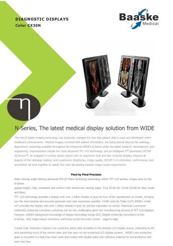 Wide Diagnostic Display CX30N 3MP