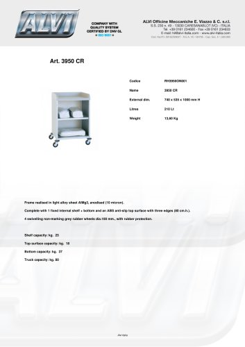Shelving trolley for laundry transport RH3950ON001