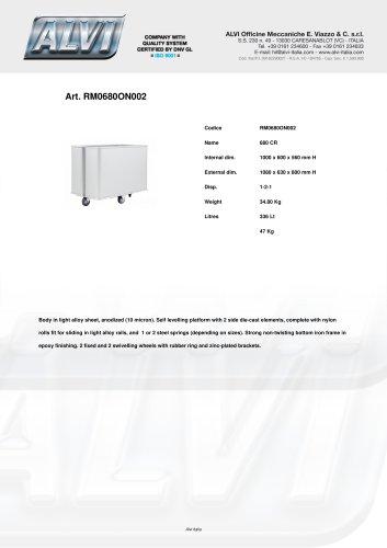 Spring loaded bottom trucks RM0680ON002