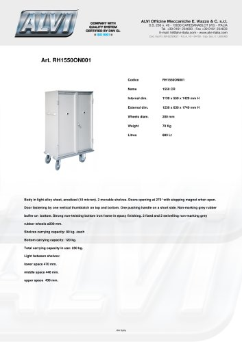 Trucks for linen distribution RH1550ON001