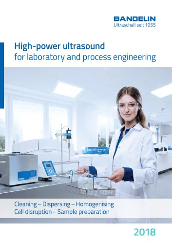 High-power ultrasound for laboratory and process engineering