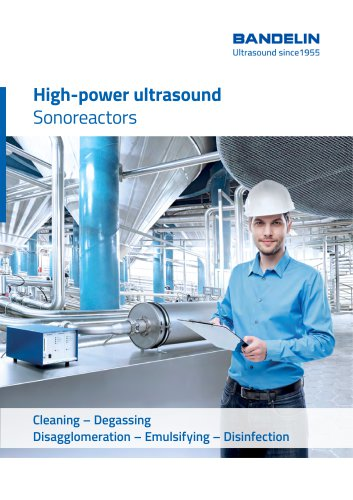 High-power ultrasound Sonoreactors