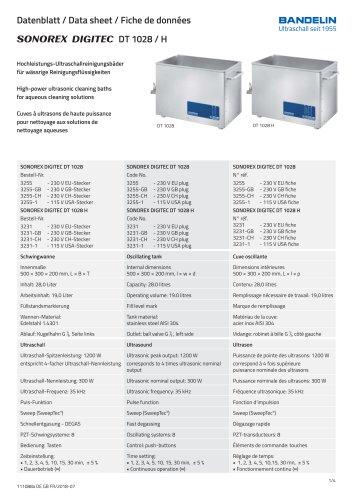 SONOREX DIGITEC DT 1028 / H