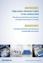 Sonorex High-power ultrasonic bath in the medical field