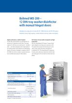 WD 200, Single-chamber washer-disinfector in compliance with EN ISO 15883 - 3