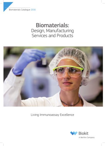 Biomaterials Services and products