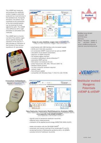 Easy to use otolithic organ test eVEMP USB
