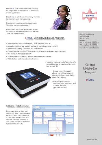 eTymp - Clinical Middle Ear Analyzer