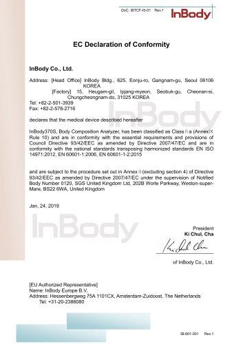 InBody 370S EC Declaration of Conformity