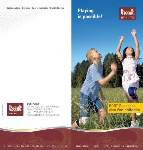 BORT-Bandages: Also for children
