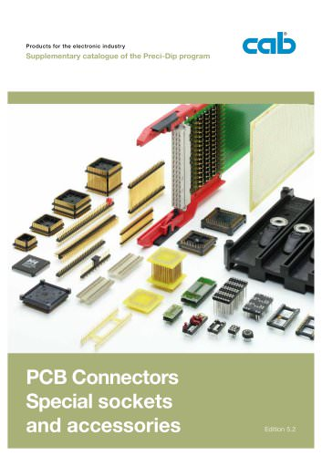 PCB Connectors, Special Sockets and Accessories