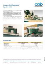 Vacuum Belt Applicator Type 5314 / 5316 - 1
