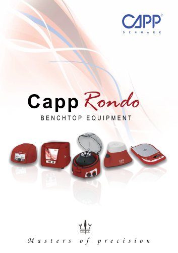 CappRondo Benchtop Equipment