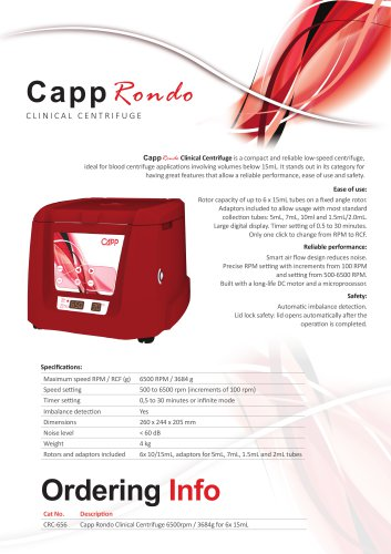 CappRondo Clinical Centrifuge