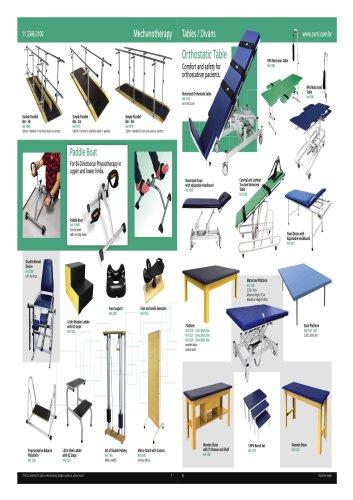Mechanotherapy tables/divans