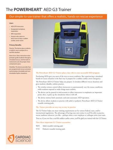 AED G3 Trainer Spec Sheet