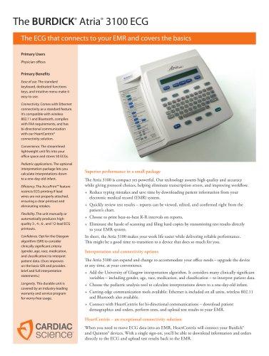 Atria 3100 Spec Sheet